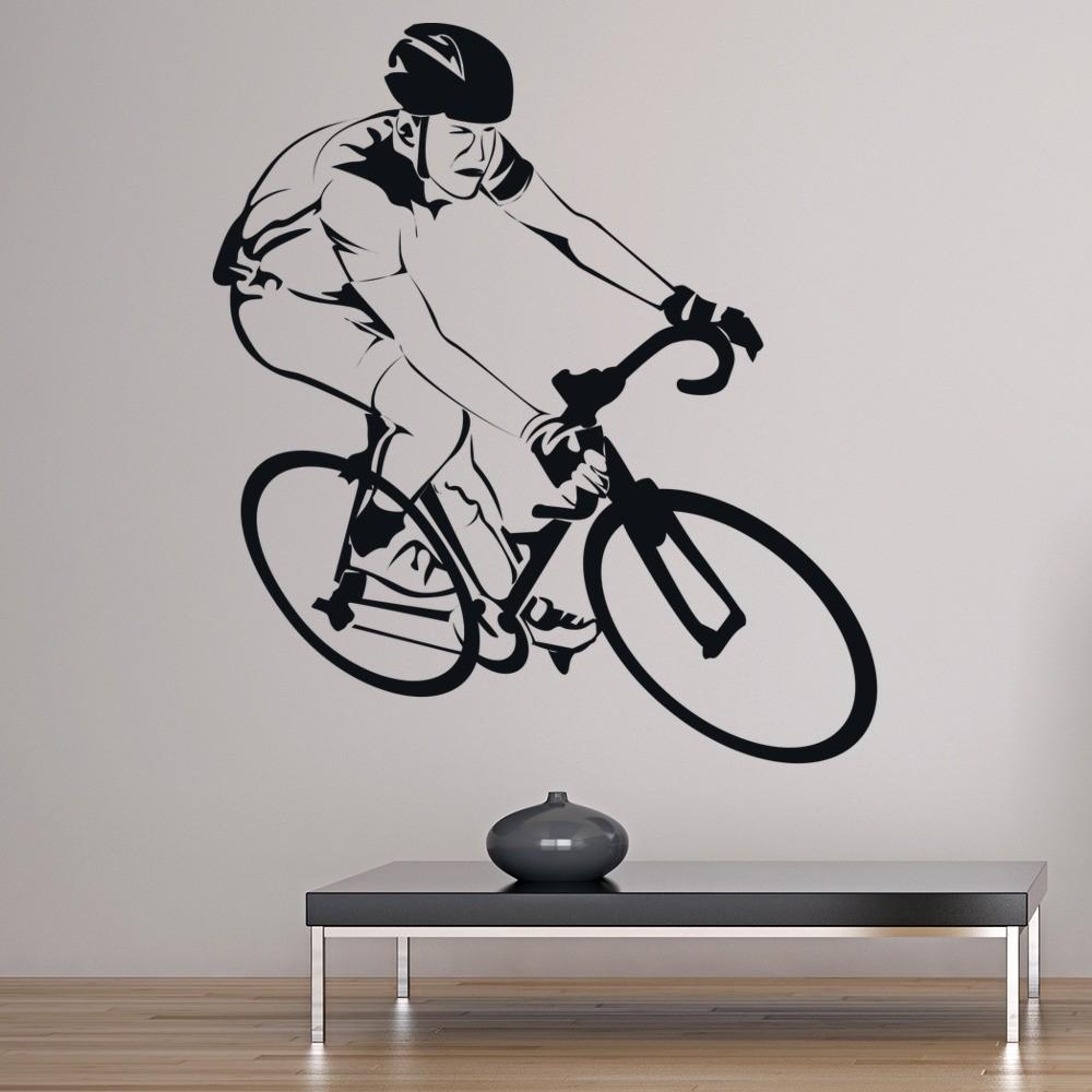 Bike Racer Cyclist Wall Sticker Cycling Sports Wall Decal