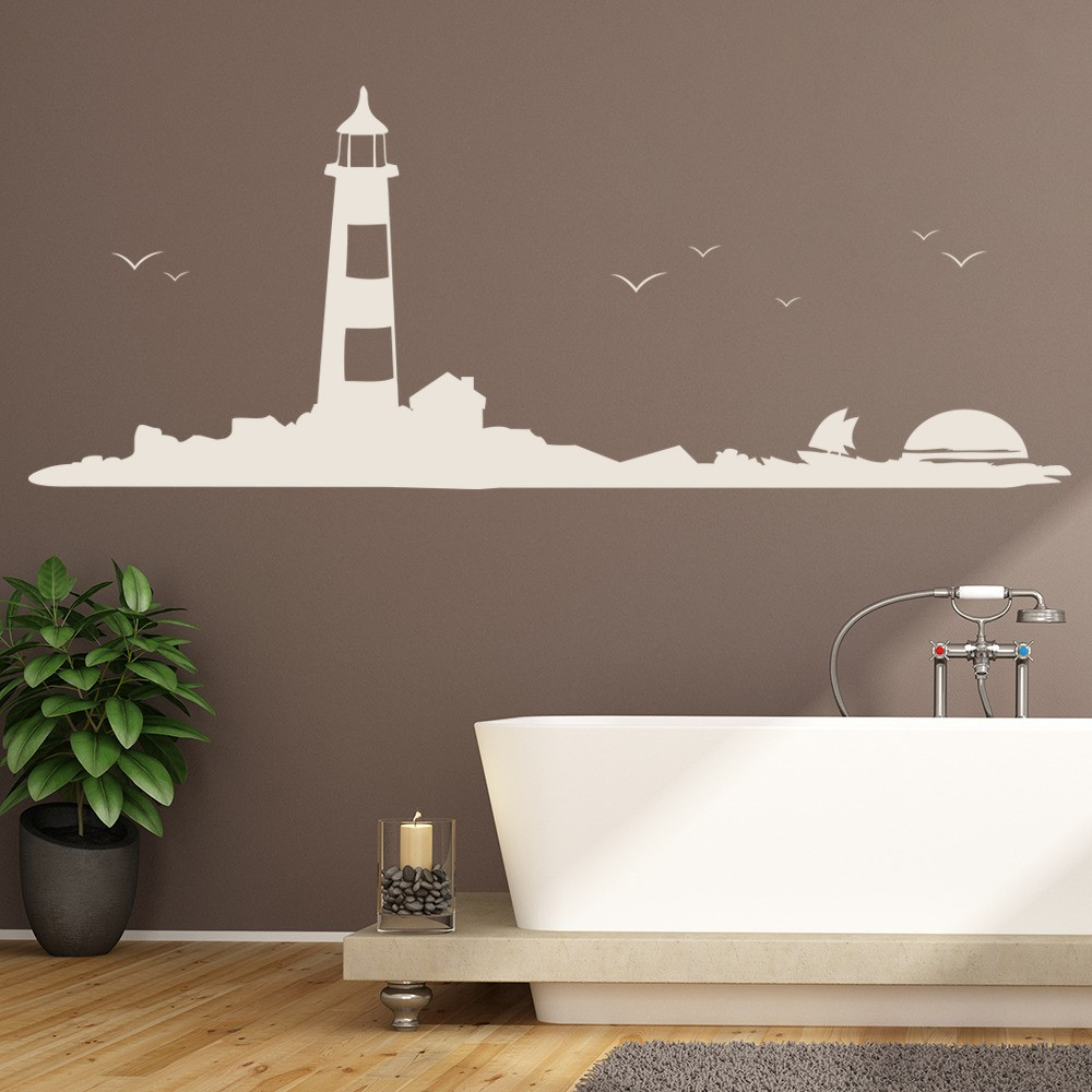 Lighthouse Wall Sticker Skyline Wall Art