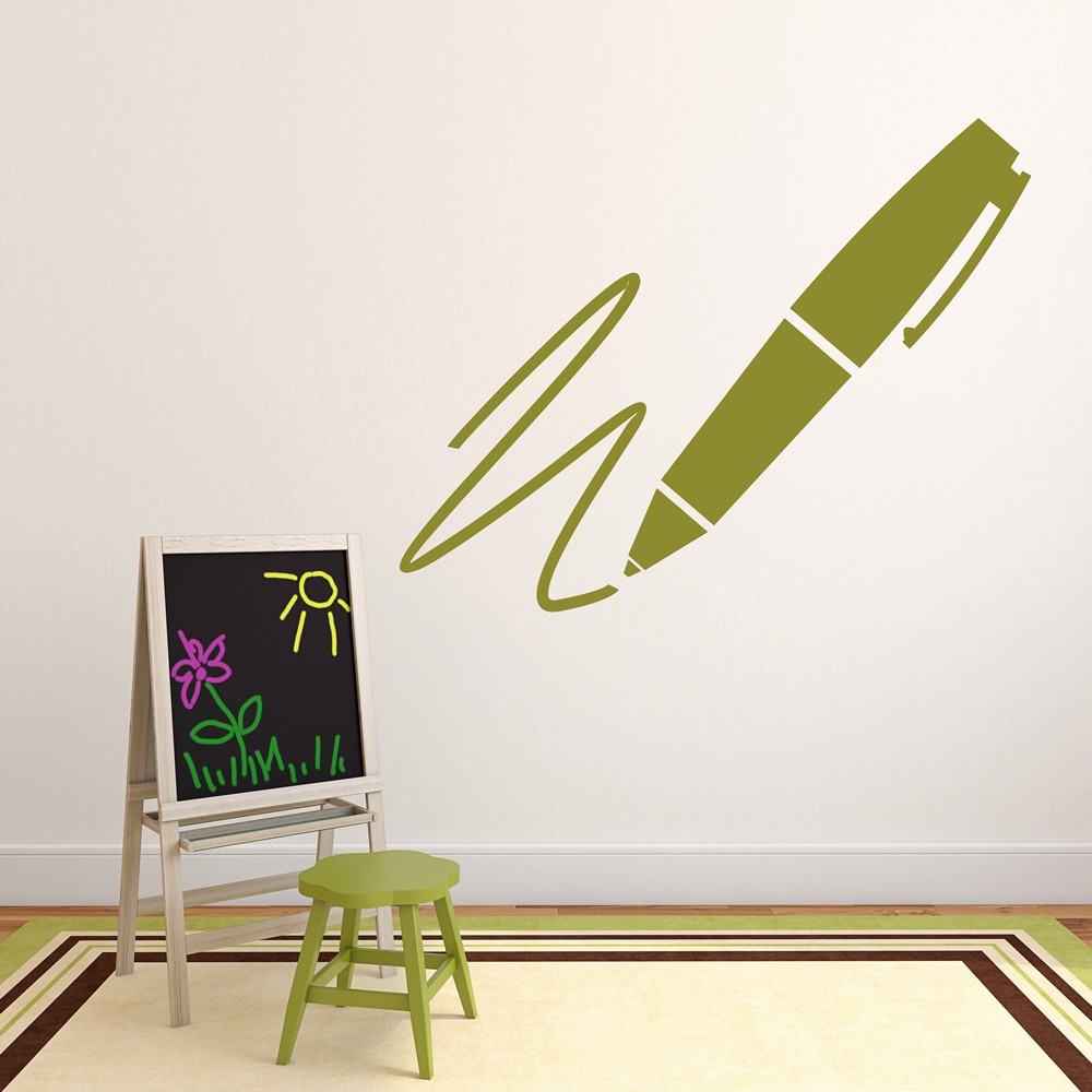 Writing Pen Wall Sticker Writing Wall Art
