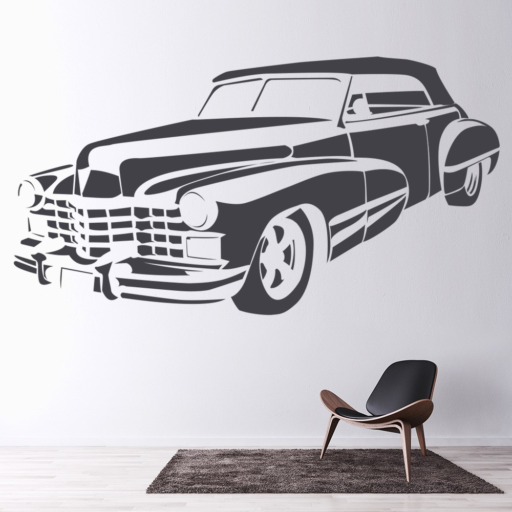 Best Insurance Quotes For Old Cars: Cadillac Wall Sticker Car Wall Art