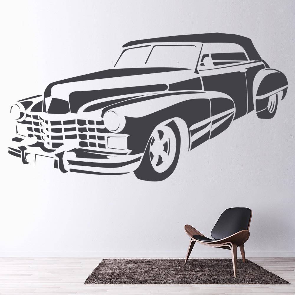 Cadillac wall sticker car wall art