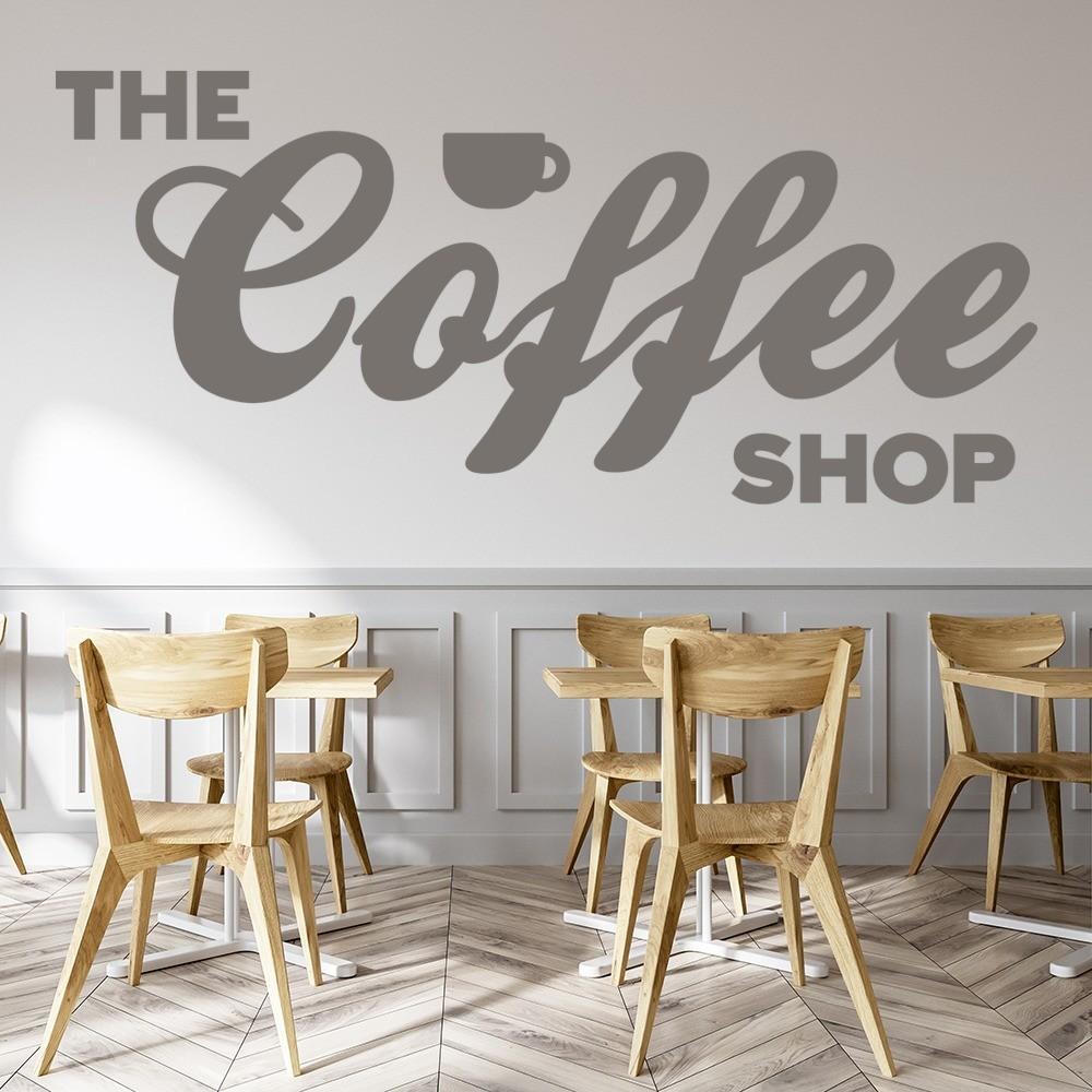 The Coffee Shop Wall Sticker Coffee Wall Art