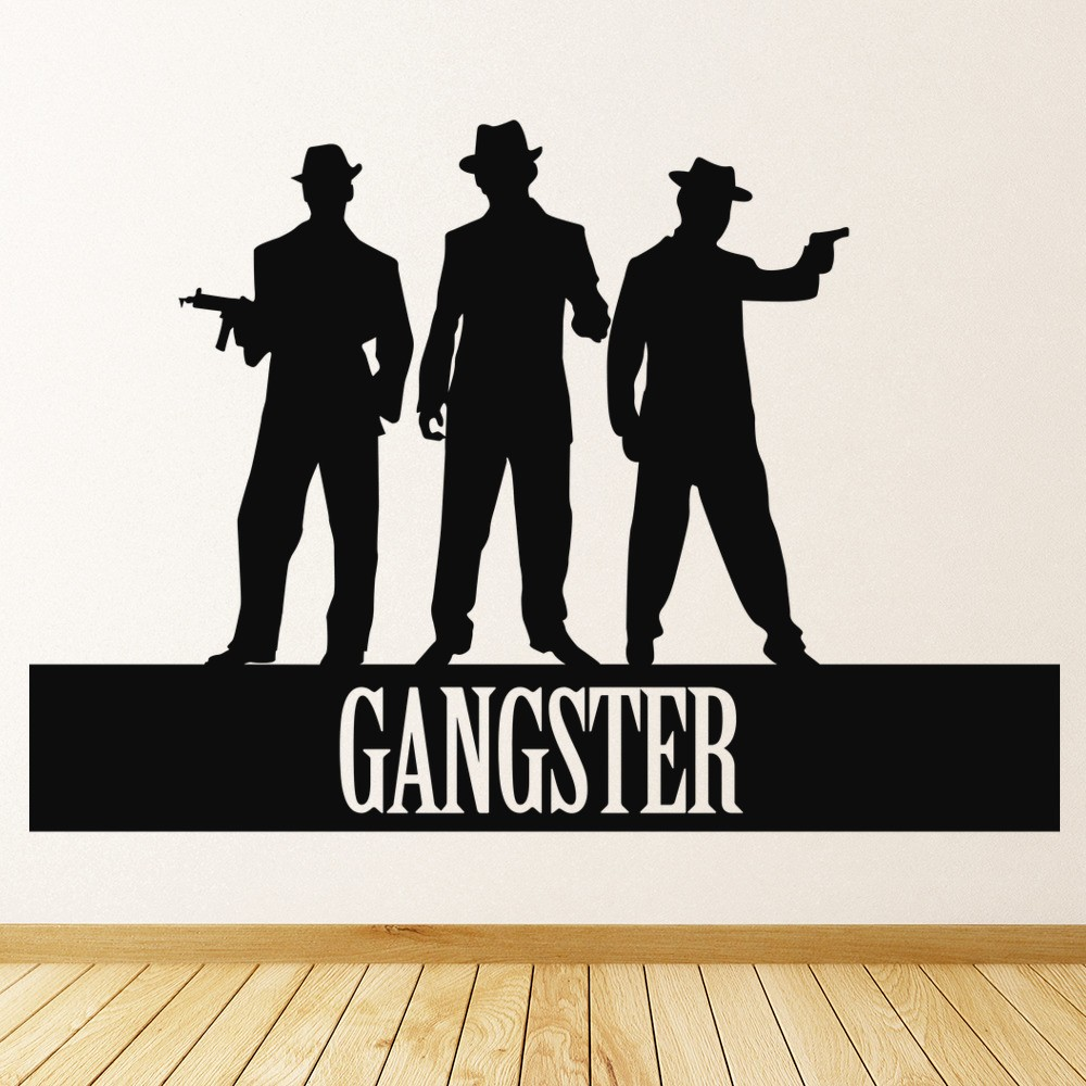 Gangster Figures Wall Sticker Gangsta Wall Art