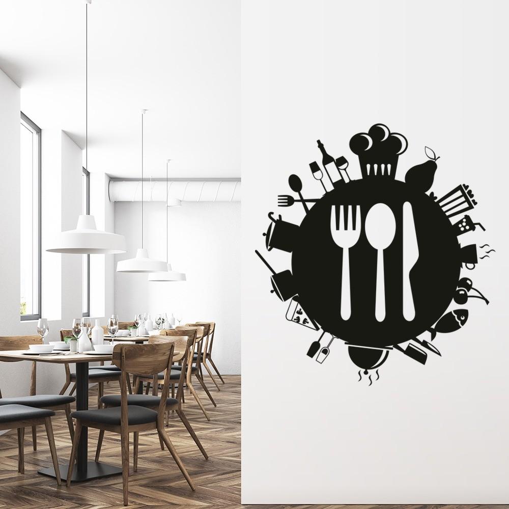 Knife Fork Spoon Food Planet Wall Sticker
