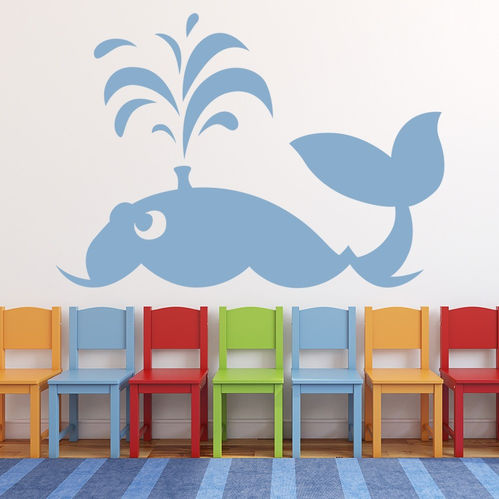 Under the sea wall stickers iconwallstickers whale and sea kids cartoon under the sea wall stickers bathroom decor art decals amipublicfo Image collections
