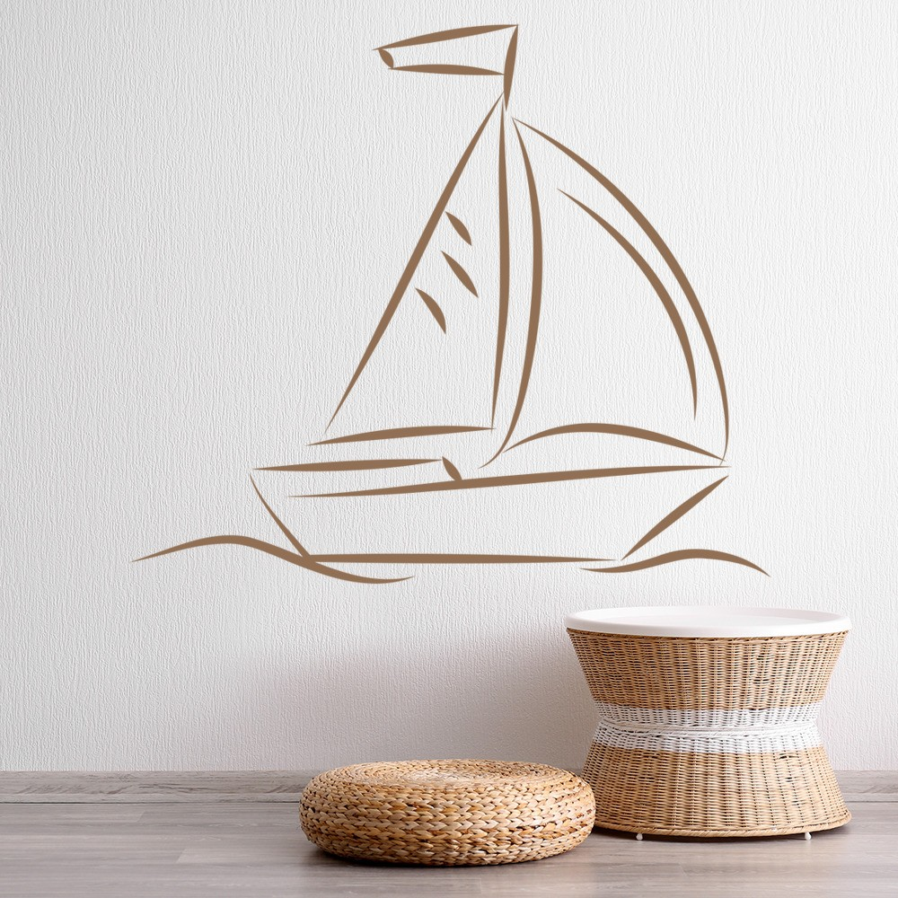 Sail Boat Wall Sticker Boat Wall Art - Decals for boats uk