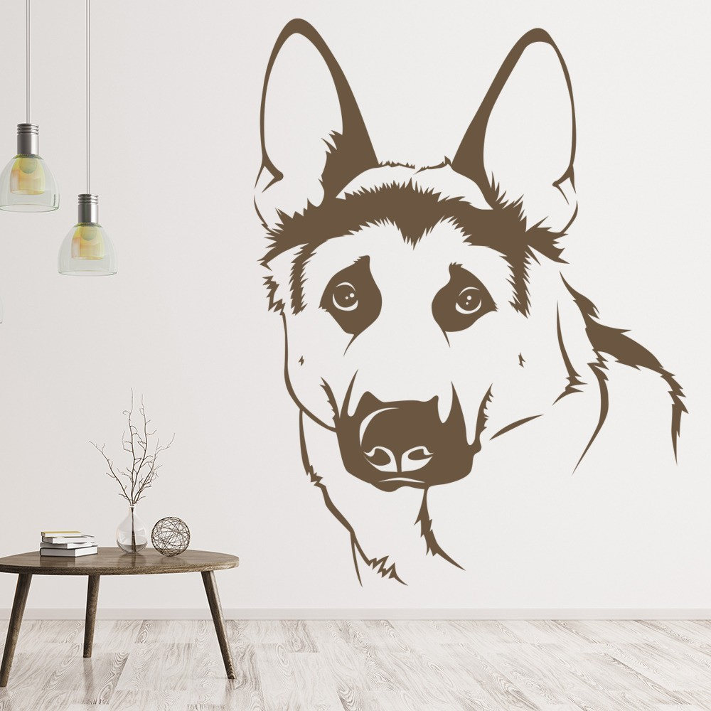 German Shepherd Dog Wall Sticker Animals Pets Wall Decal Kids Vets ...