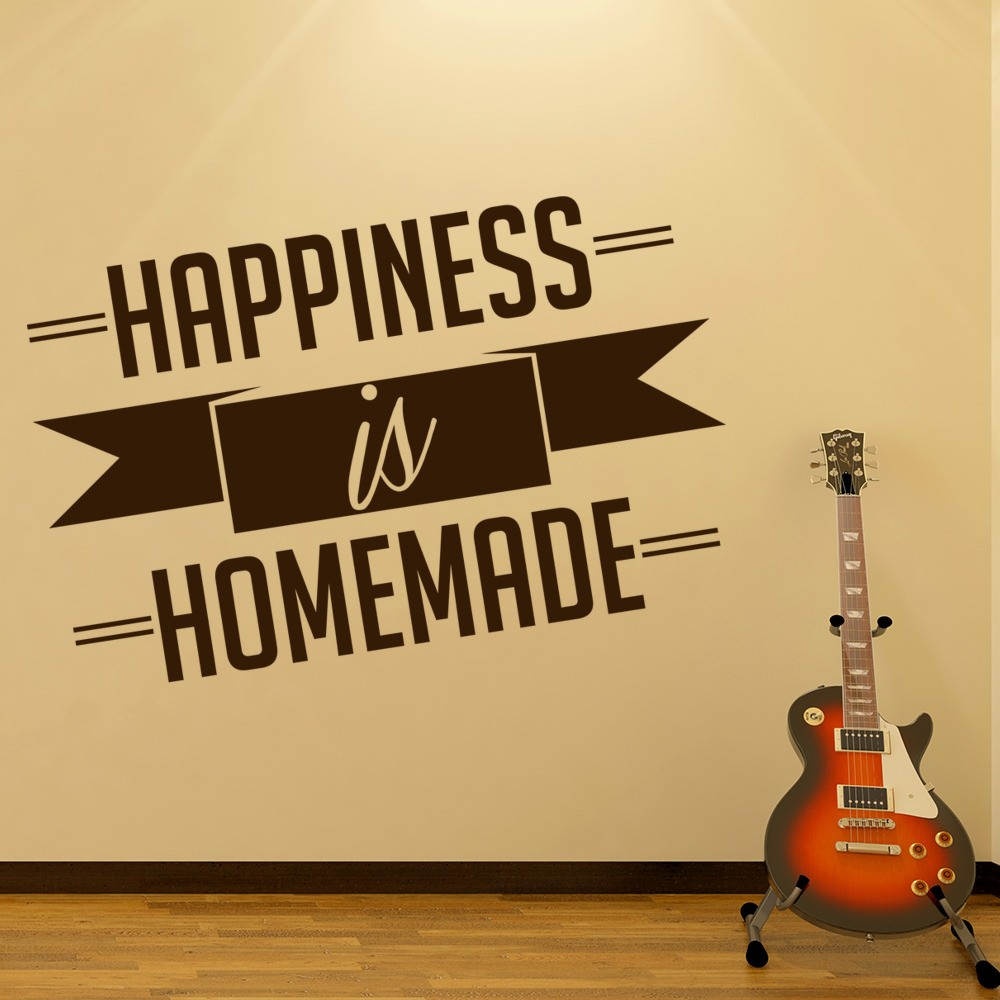 Happiness Is Homemade Wall Sticker Home Wall Art