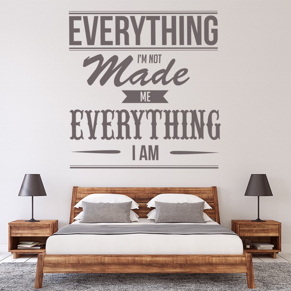 Kanye West Wall Stickers Everything I am Wall Art