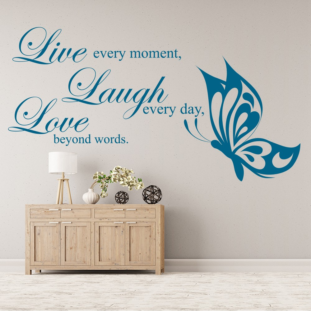 Live Laugh Love Wall Sticker Family Quote Wall Decal Living Room Home Decor