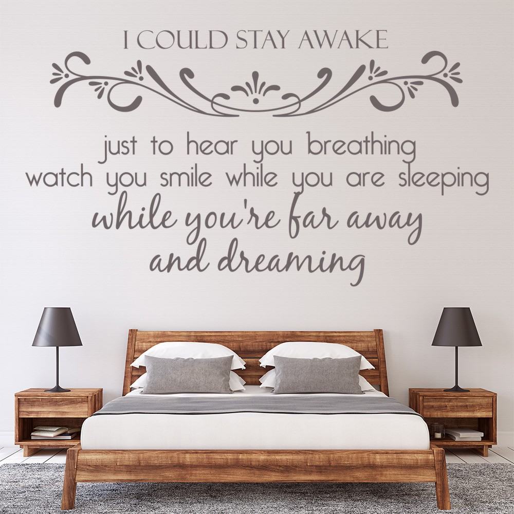 song lyric quotes wall stickers iconwallstickers co uk aerosmith i don t wanna miss a thing song lyrics wall stickers music art decals