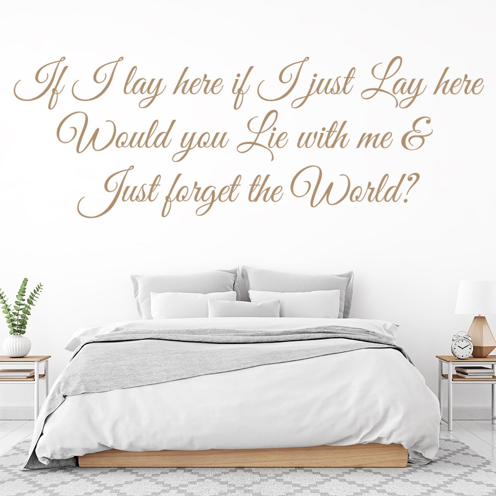 Snow Patrol Wall Sticker Chasing Cars Wall Decal Music