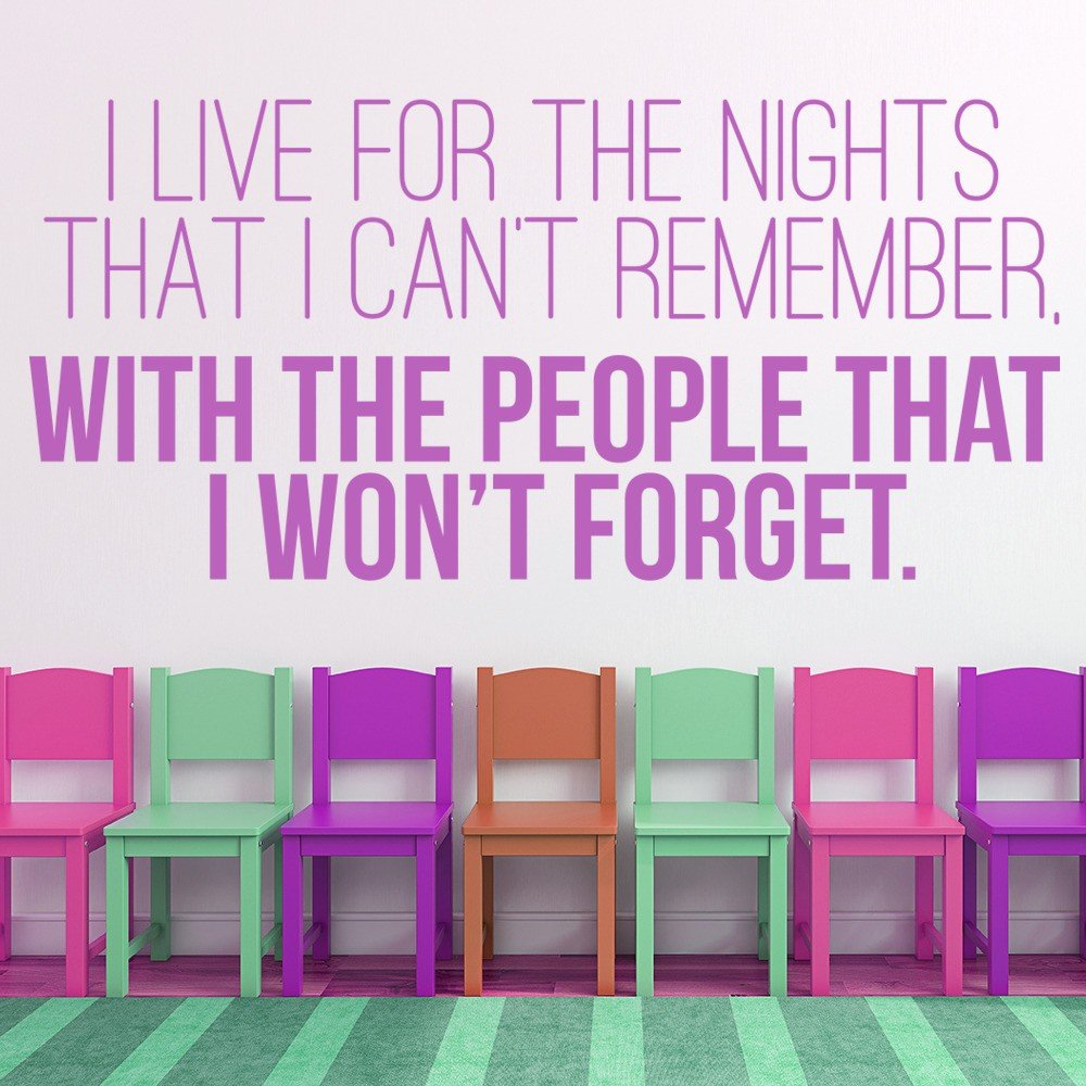 I Live For The Night Wall Sticker Friendship Quote Wall