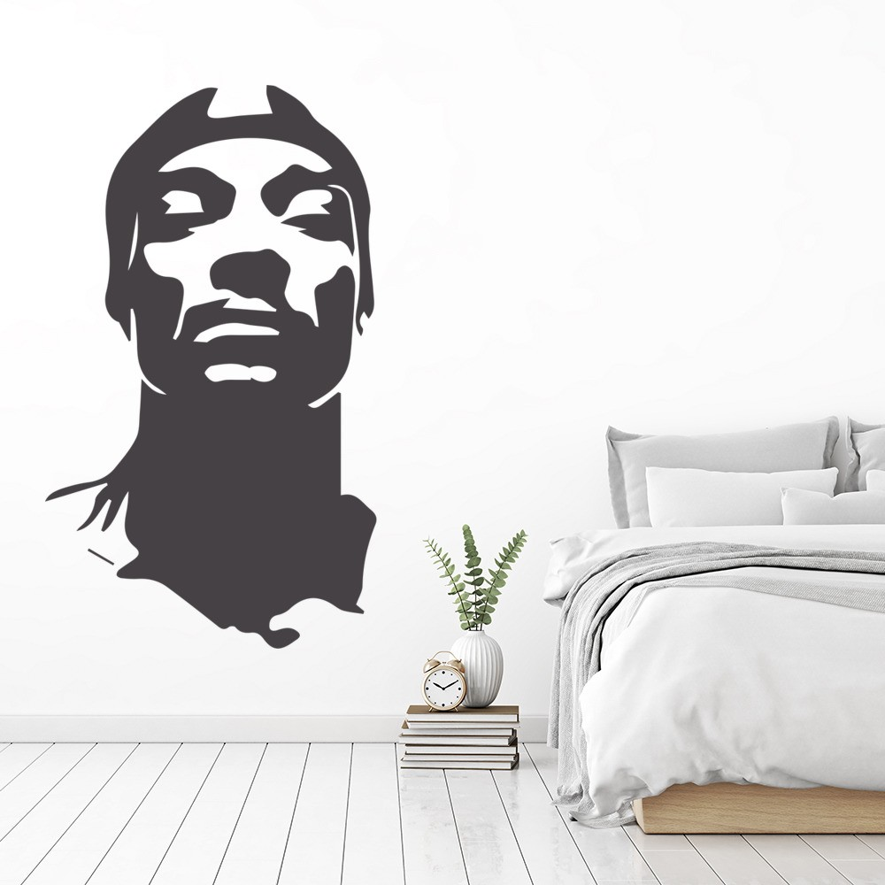 snoop dogg wall sticker rap music wall decal icon. Black Bedroom Furniture Sets. Home Design Ideas