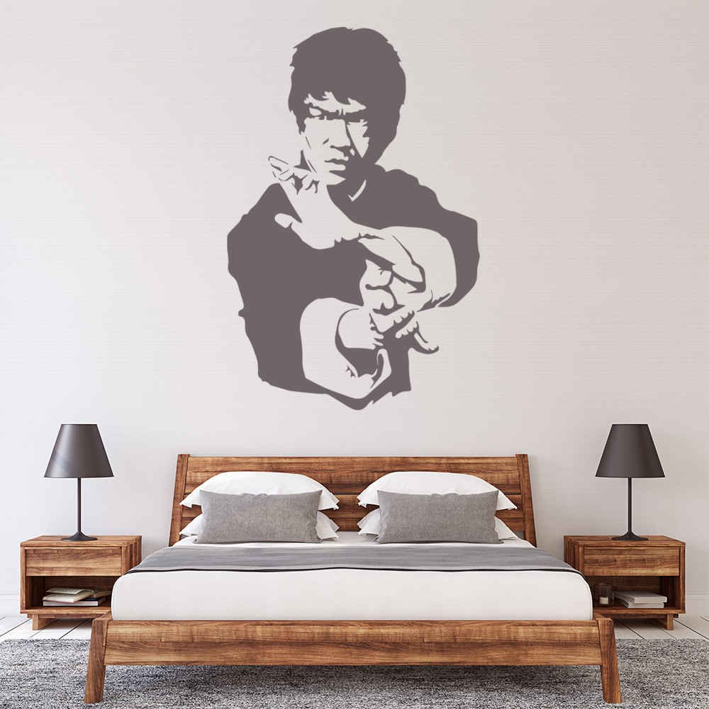 Icons celebrity wall stickers iconwallstickers bruce lee martials arts icons celebrities wall stickers home decor art decals amipublicfo Image collections