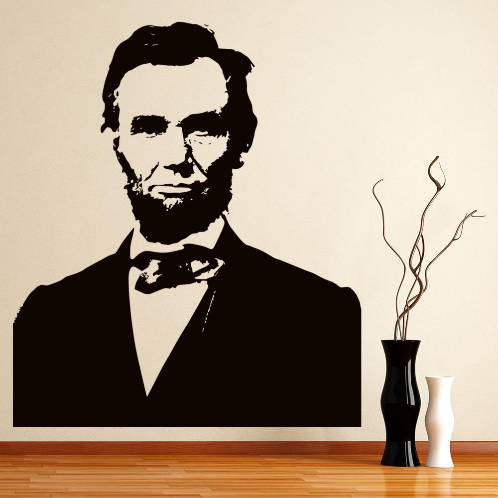abraham lincoln president usa wall sticker. Black Bedroom Furniture Sets. Home Design Ideas