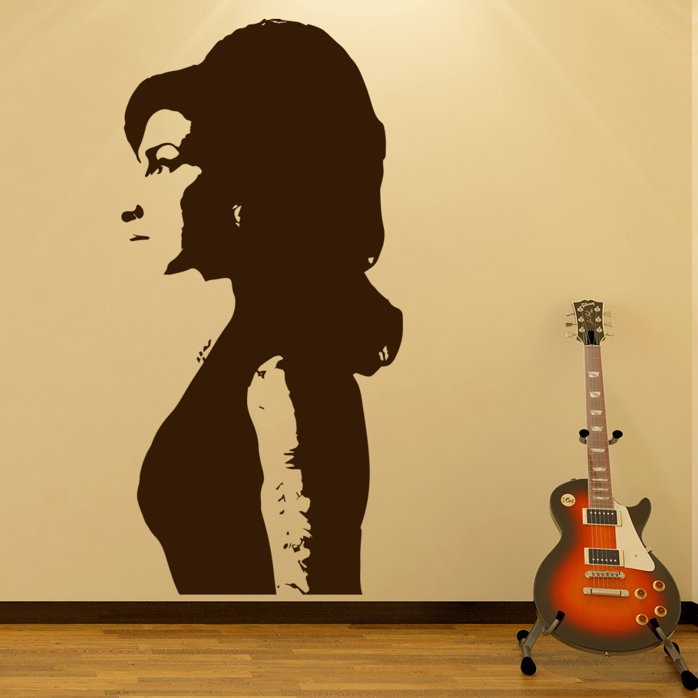 Amy Winehouse Wall Sticker Jazz Music Wall Decal Icon