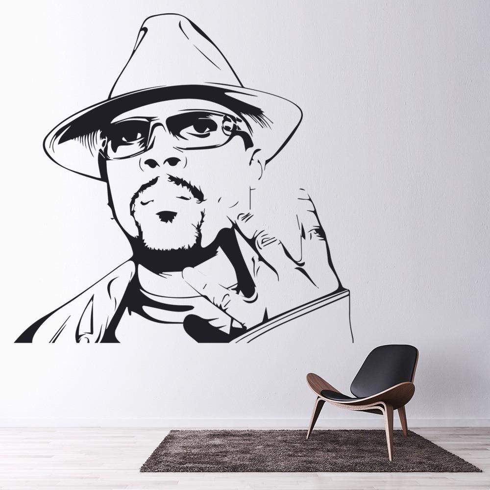 nate dogg rapper wall sticker west coast hip hop wall. Black Bedroom Furniture Sets. Home Design Ideas