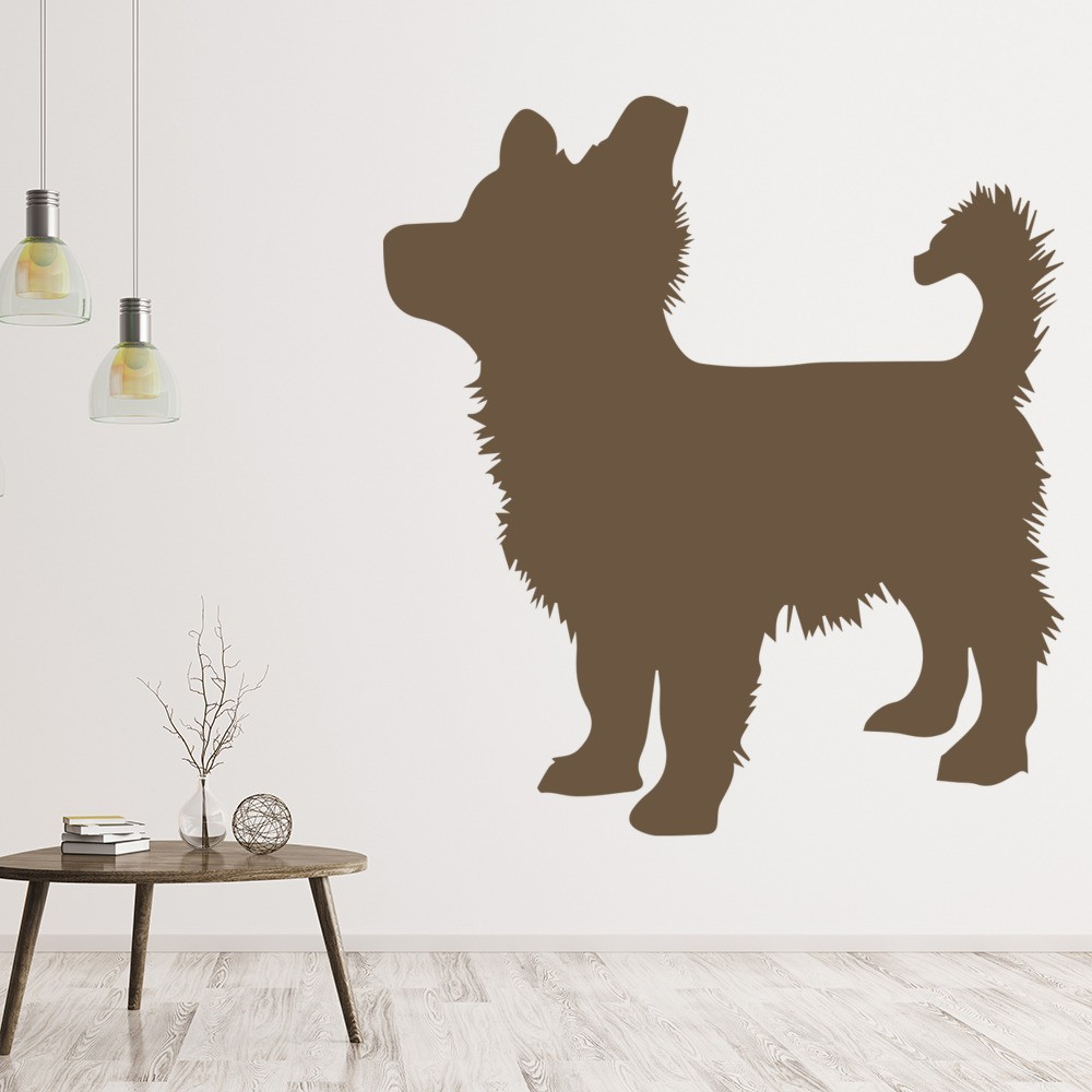 Pomeranian Puppy Silhouette Wall Sticker Dog Wall Art