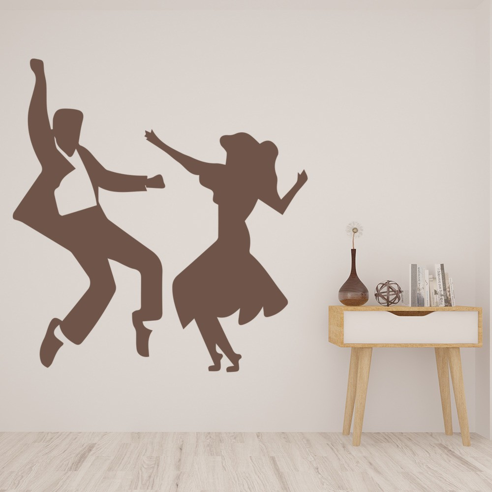 Hand Jive Dancers Set Wall Sticker Dance Wall Art