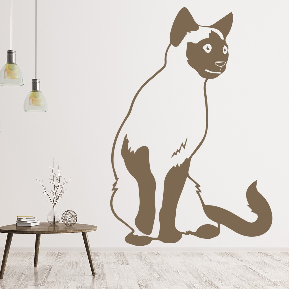 Wall stickers cat - Siamese Cat Detailed Feline House Cats Wall Stickers Pets Home Decor Art Decals