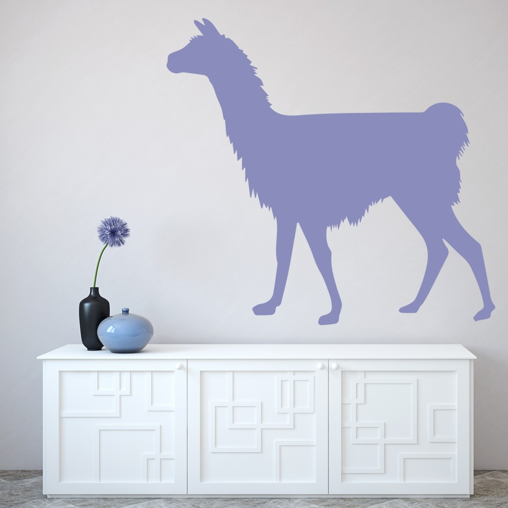 Alpaca Wall Sticker Wild Animals Wall Decal Kids Bedroom