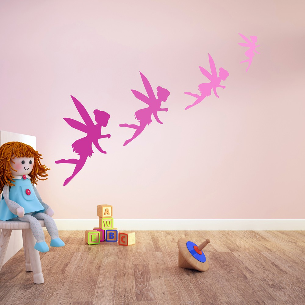 Fairy silhouette wall sticker creative multi pack wall decal art amipublicfo Image collections