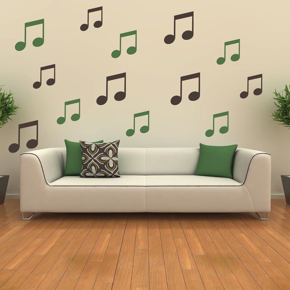 Musical note wall stickers iconwallstickers semiquaver musical notes instruments creative multipack wall sticker art decal amipublicfo Gallery