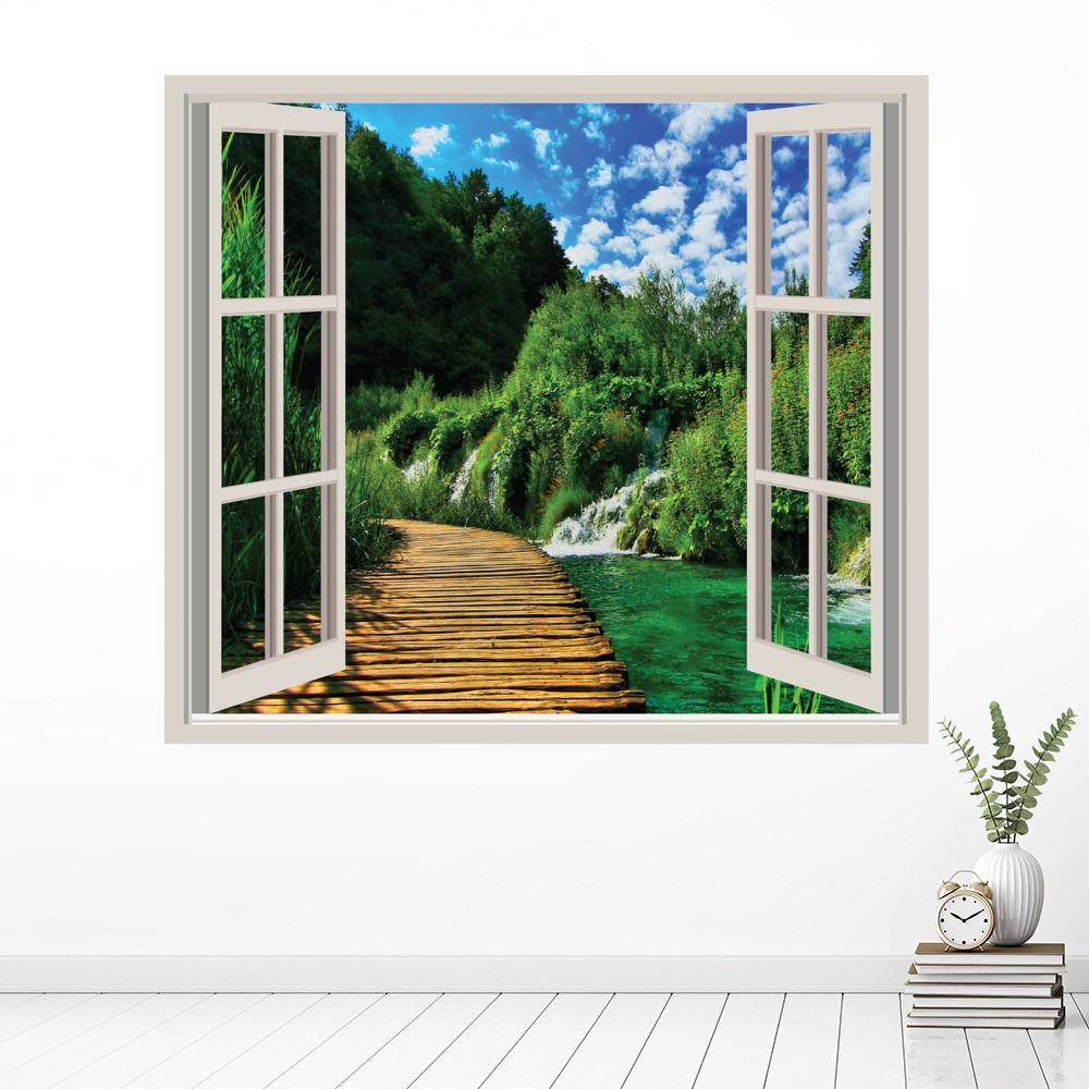 River Walkway Wall Sticker Window Wall Decal