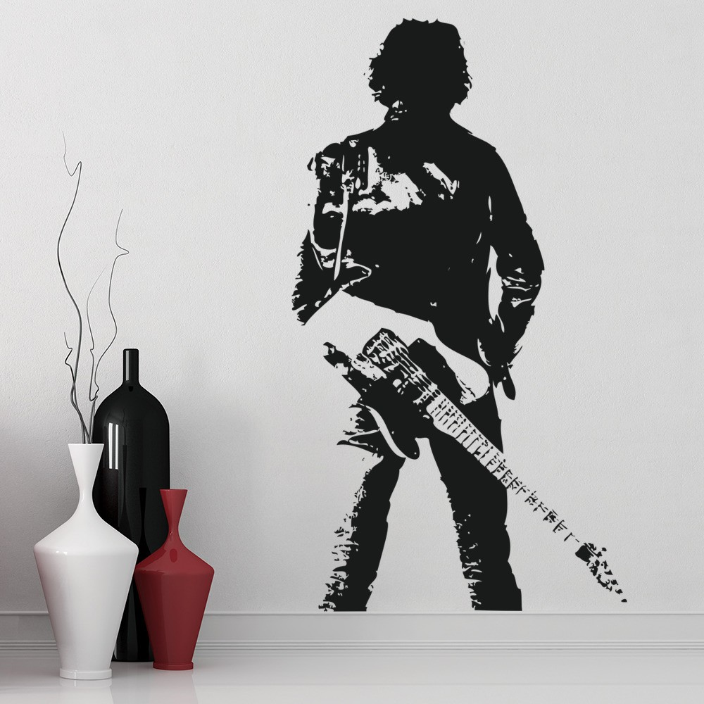 bruce springsteen pose wall sticker icon wall art. Black Bedroom Furniture Sets. Home Design Ideas