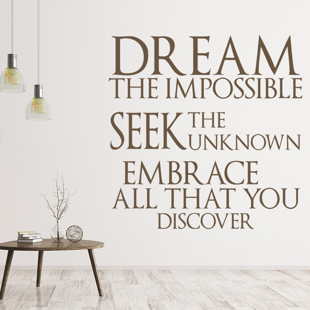 Dream The Impossible Wall Sticker Quote Wall Art