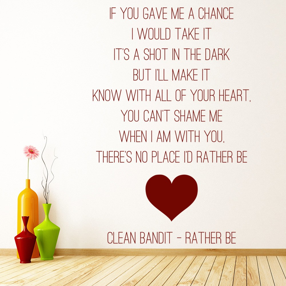 Rather Be Wall Sticker Clean Bandit