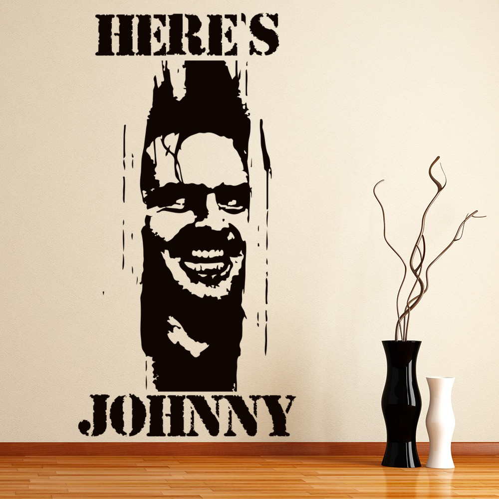 Scarface money power respect vinyl wall decal for home decore - Here S Johnny The Shining Horror Tv Movie Wall Stickers Home Decor Art Decals
