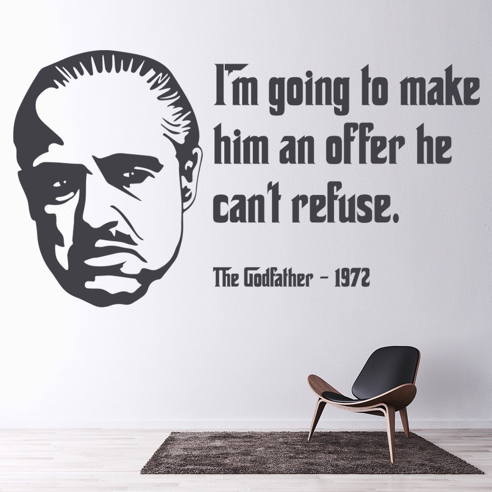 The Godfather Wall Sticker Movie Quote Wall Decal Bedroom