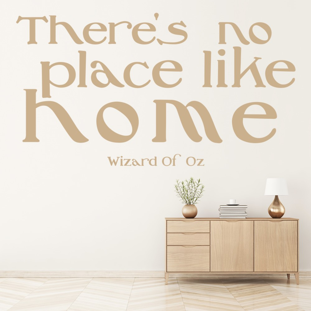 No Place Like Home Wall Sticker Wizard Of Oz Quote Wall