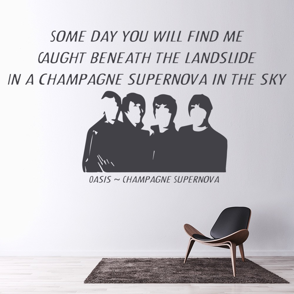 song lyric quotes wall stickers iconwallstickers co uk oasis champagne supernova song lyrics wall stickers music decor art decals
