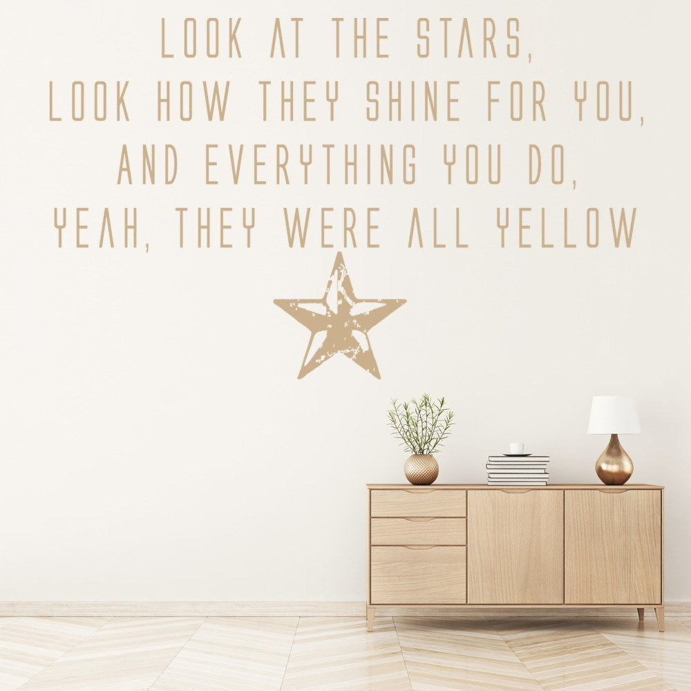 Song Lyric Wall Art song lyric quotes wall stickers | iconwallstickers.co.uk