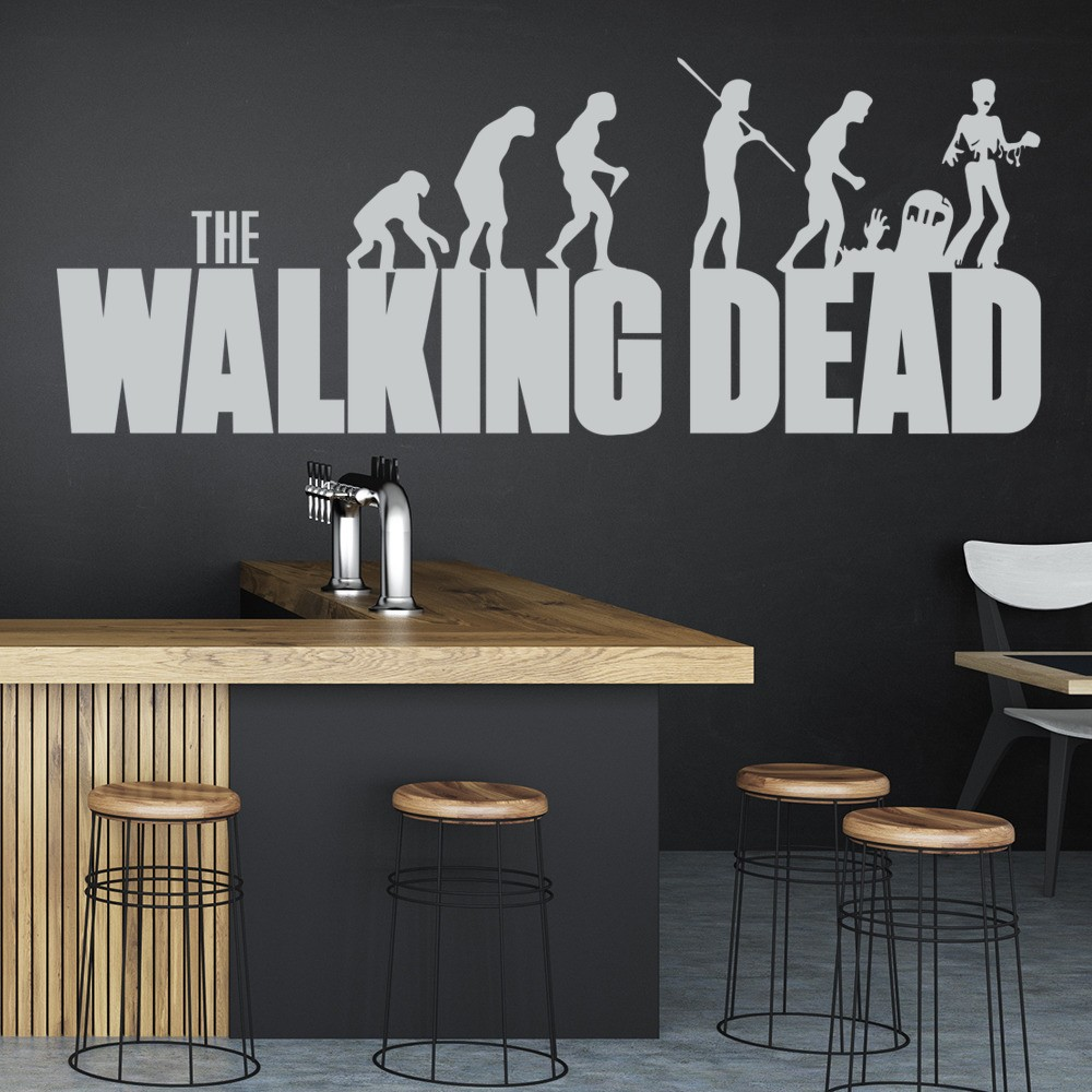 Tv movie wall stickers iconwallstickers the walking dead evolution tv movie wall stickers home decor art decals amipublicfo Choice Image
