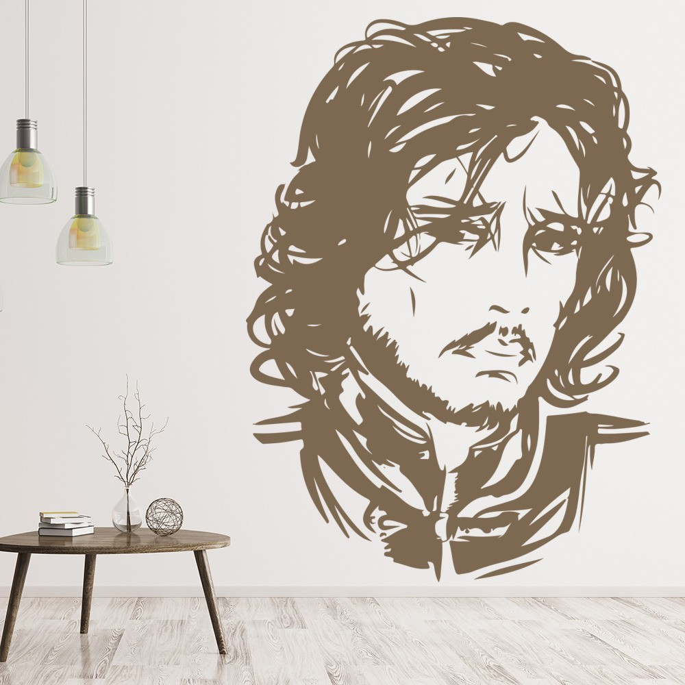 Game Of Thrones John Snow Wall Sticker Game Of Thrones