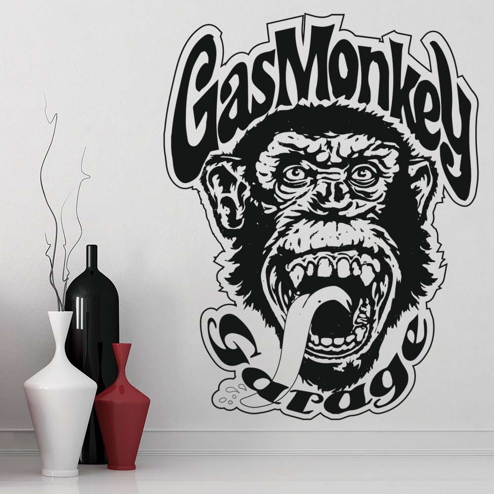 Gas Monkey Wall Sticker Tv Logo Wall Decal Garage Home Decor
