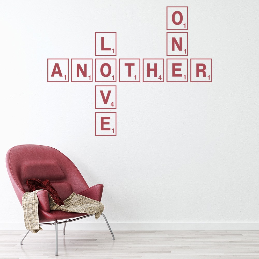 Love One Another Wall Sticker Scrabble Tiles Wall Art