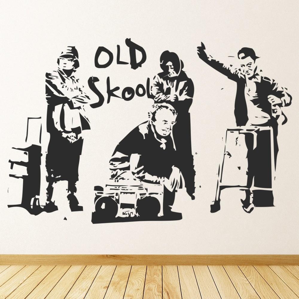 Banksy Wall Art banksy old school wall sticker banksy wall art