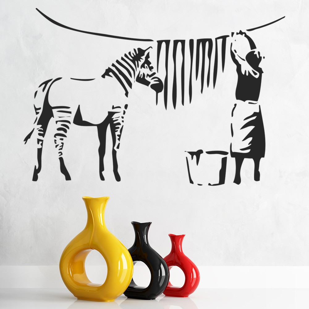 Banksy Zebra Drying Wall Sticker Banksy Wall Art Part 85