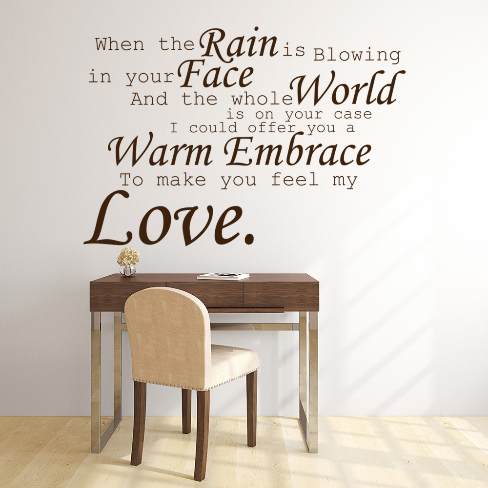 pop song lyrics wall quotes make you feel my love adele 19 song lyrics wall stickers home decor art decals