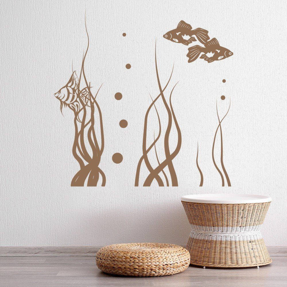 Tropical Bathroom Wall Decor: Tropical Fish Wall Sticker Under The Sea Wall Decal