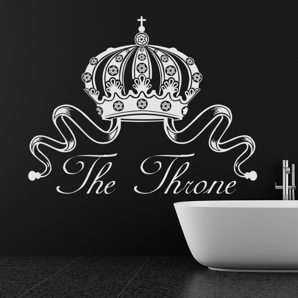The Throne Wall Sticker Toilet Humour Wall Decal Bathroom