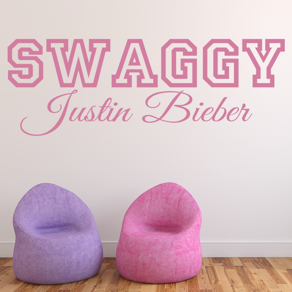 Baby Bedroom Decor Justin Bieber Bedroom Wallpaper Bedroom Design Bed Bedroom Design Modern Classic: Justin Bieber Wall Sticker Swaggy Wall Decal Pop Music