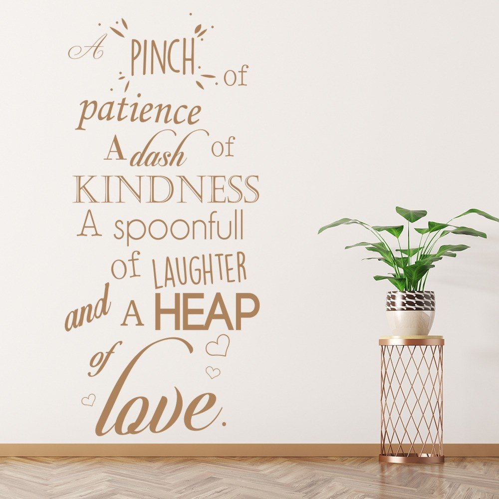 A Pinch Of Patience Wall Sticker Kitchen Quotes Wall Decal