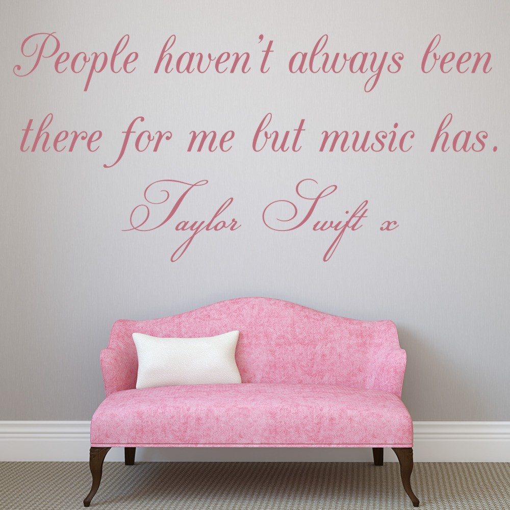 Taylor Swift Inspirational Quote Wall Sticker