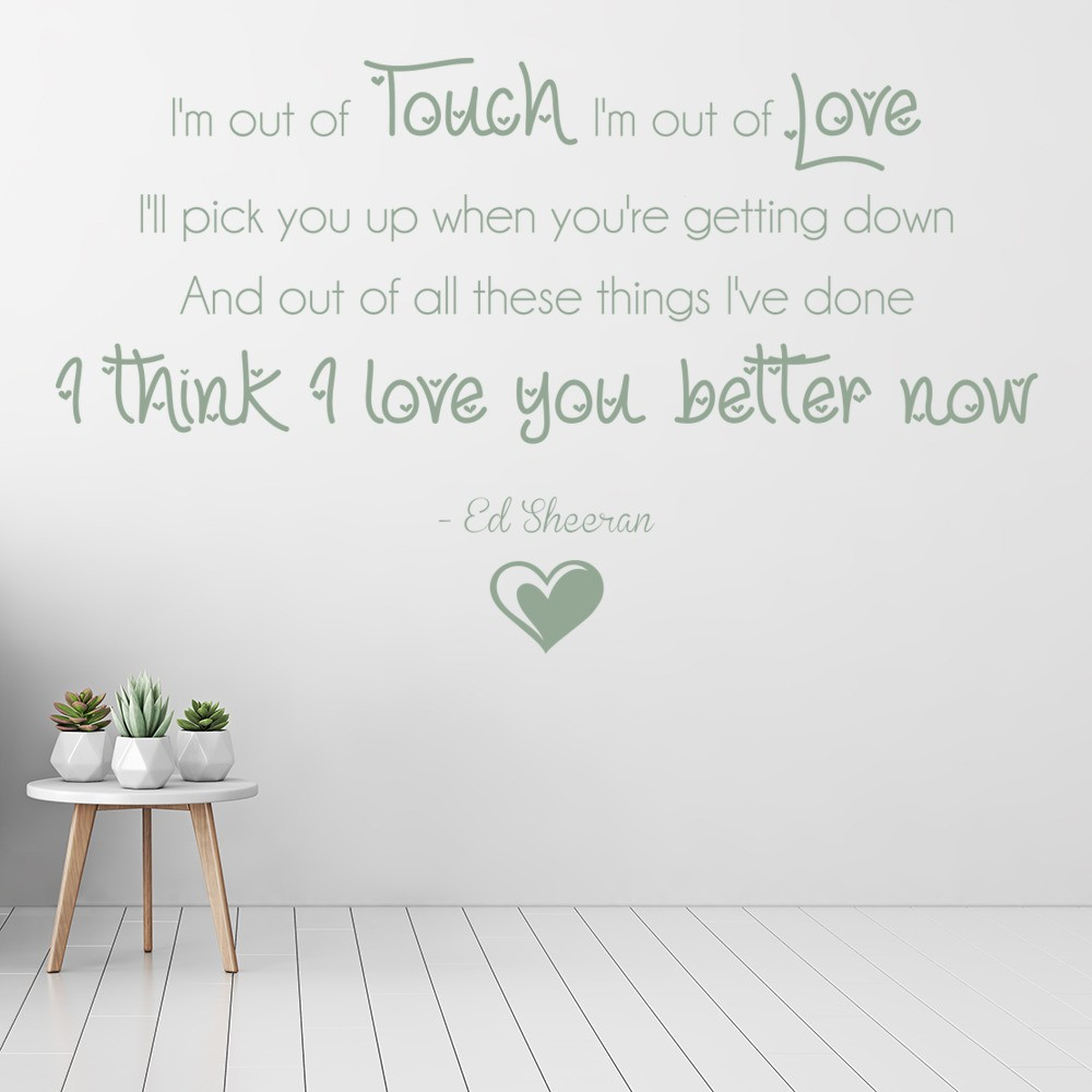 Ed Sheeran - Pop - Song Lyrics - Wall Quotes